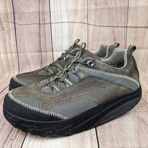 MBT Men's Chapa Sneaker in Beluga Rocker Bottom Sz 10 Olive Green Leather